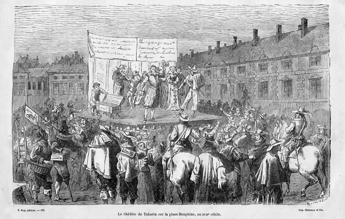 Le théâtre de tréteaux, début du XVIIe siècle.