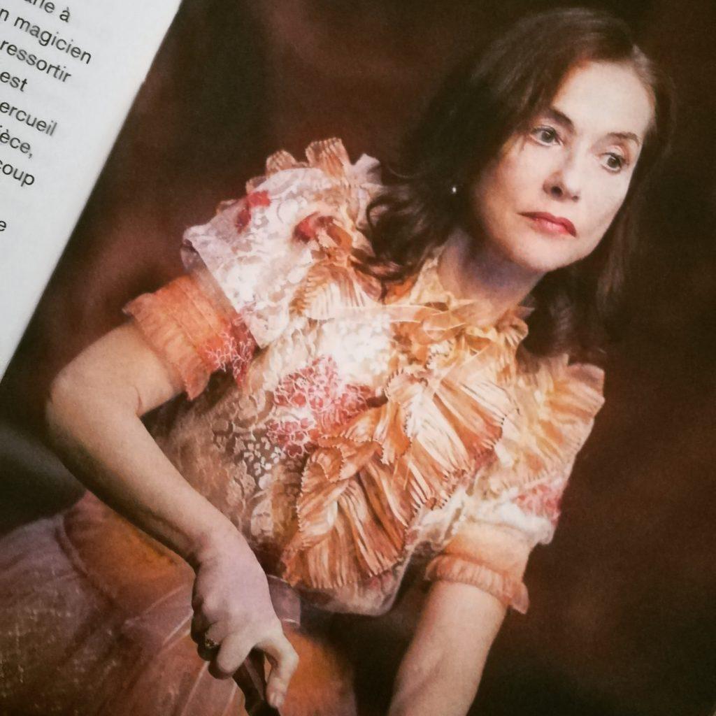 Isabelle Huppert, dans La Ménagerie de verre, Odéon 2021.